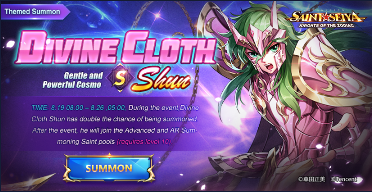 Divine Cloth Shun Summon
