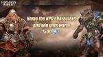 Name the NPC characters , win 1500 soul crystal!